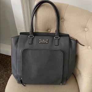 Kate Spade Grey Pebble Shoulder Bag Purse